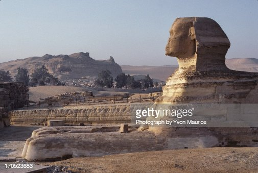 The Great Sphinx of Giza in profile : Stock Photo