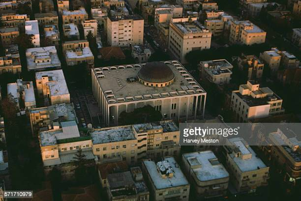 The Great Synagogue in Aviv in Israel as seen from the Shalom Meir Tower 1975