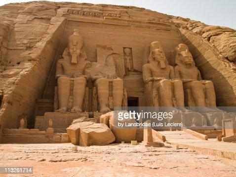 The Great Temple of Rameses II at Abu Simbel