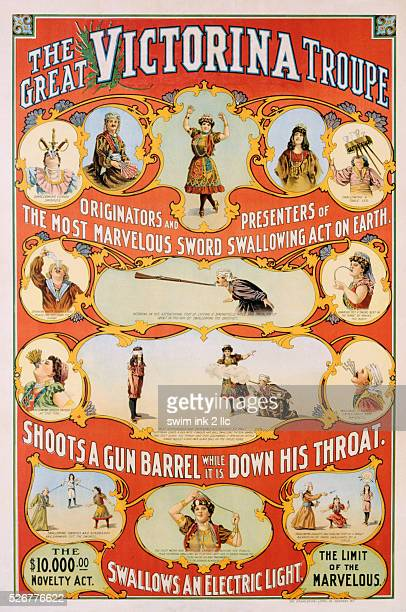The Great Victorina Troupe Poster