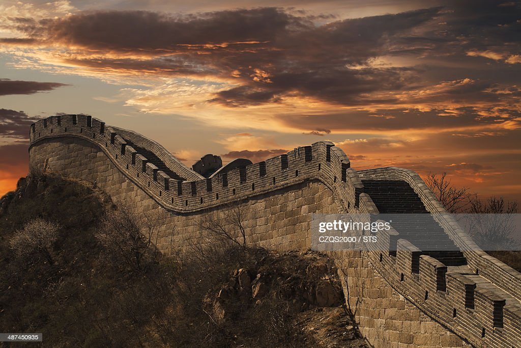 The Great Wall in sunrise