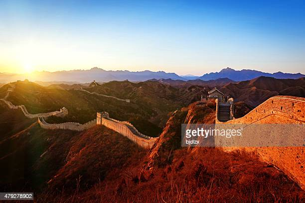 The great wall in the sunset