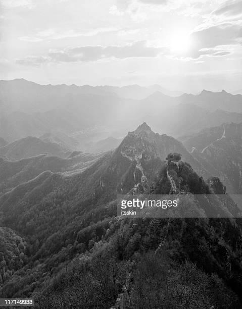 La Grande Muraille de Chine en noir et blanc. Jiankou.