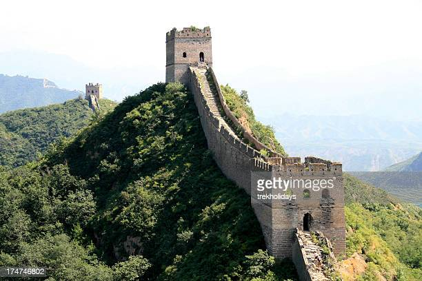 The Great Wall of China under blue sky