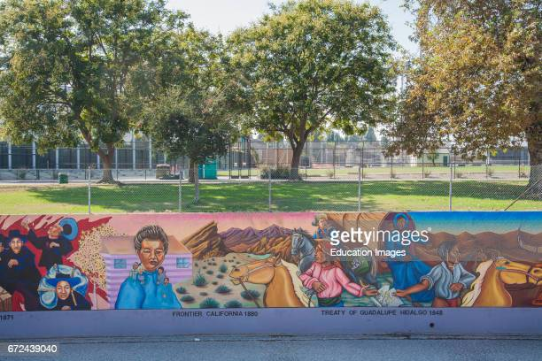 The Great Wall of Los Angeles is a mural designed by Judith Baca and executed with the help of over 400 community youth and artists Tujunga Wash Los...
