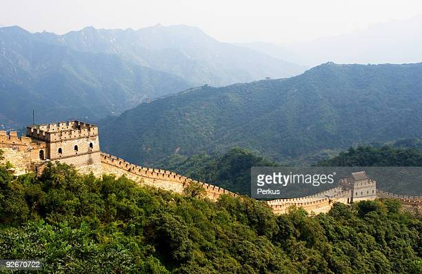 The Great Wall surrounded by trees