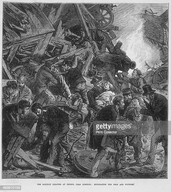 The Great Western Railway disaster at Thorpe near Norwich 10 September 1874 Front page illustration taken from the Illustrated London News entitled...