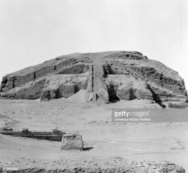 The Great Ziggurat of Ur near Nasiriya Iraq Ziggurats were built by the Sumerians Babylonians Elamites Acadians and Assyrians for local religions...