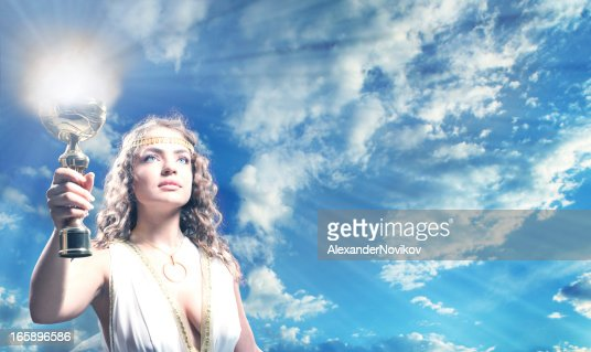 The Greek Goddess Carrying a Goblet of Fire.