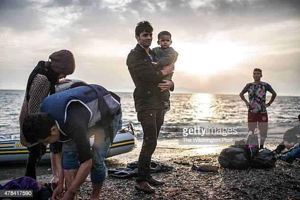 'THE BLACK ROUTE' The Greek Islands are the gateway to Europe for many refugees Scenes around Kos town on May 8th 2015 in Kos Island Greece 13...