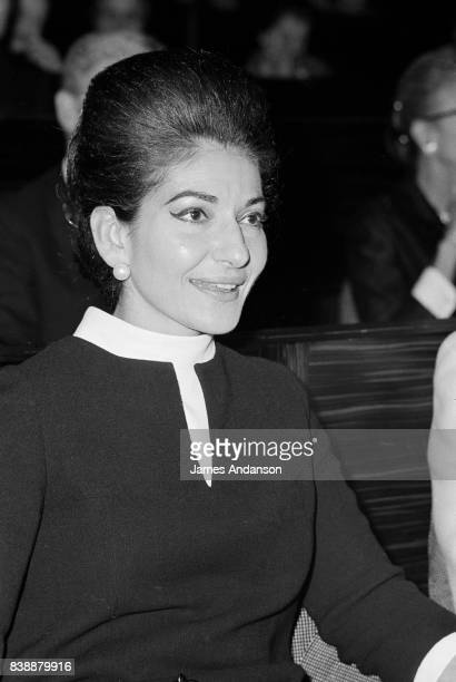 The Greek Opera singer Maria Callas at a meeting for medical research at UNESCO in Paris 11st October 1968