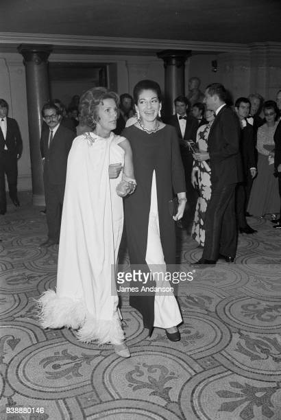 The Greek Opera singer Maria Callas on the right at the Opera in Paris 15th October 1968