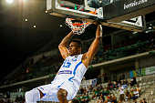 The greek small forward Thanasis Antetokounmpo during the game between Greece and Iran at 2016 FIBA Olympic Qualifying Tournament in Turin Italy