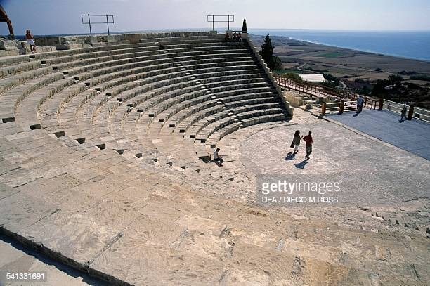 The GreekRoman theatre archaeological site of the ancient city of Kourion area of Limassol Cyprus
