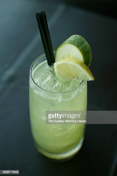 The Green Day Mocktail from Cruise Lounge at the Overseas Passenger Terminal 27 April 2005 SMH Picture by QUENTIN JONES