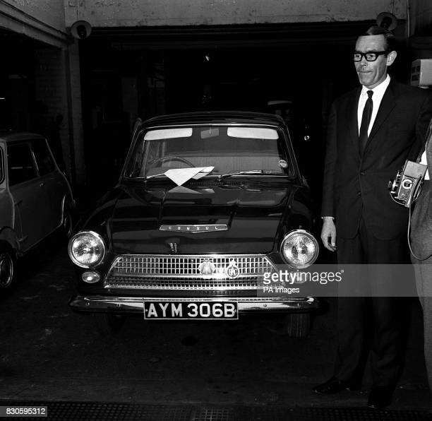 The green Ford Cortina one of the getaway cars used in the escape of train robber Ronald Biggs and 3 other men from Wandsworth prison last week The...