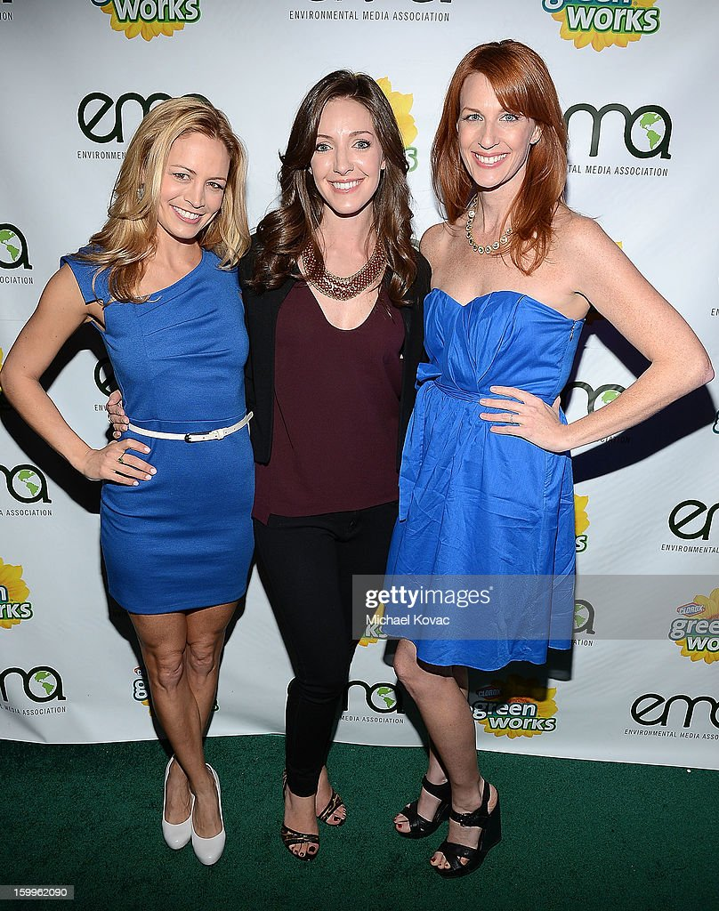 The Green Housewives including (L-R) Heather Storm, Jaycie Dotin, Katie F. Ward attend Celebrities and the EMA Help Green Works Launch New Campaign at Sur Restaurant on January 23, 2013 in Los Angeles, California.