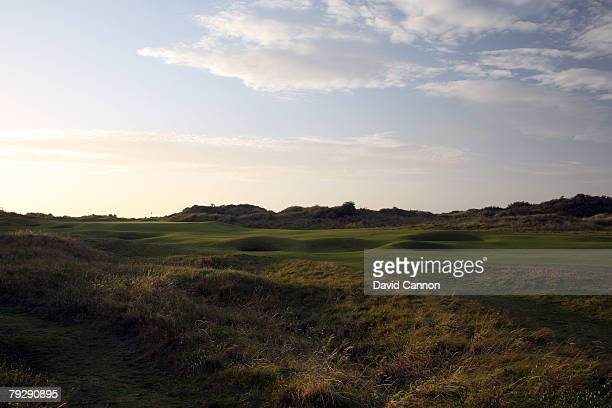 The green on the 16th hole at Royal Birkdale Golf Club venue for the 2008 Open Championship on October 9 2007 in Southport England