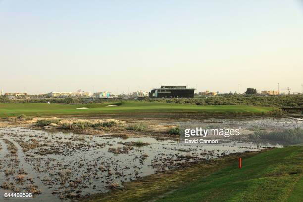 The green on the 237 yards par 3 fifth hole at the Al Zoorah Golf Club on January 29 2017 in Ajman United Arab Emirates