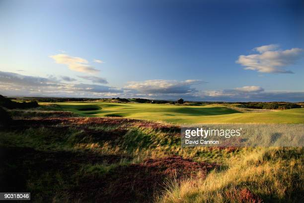 The green on the par 5 5th hole 'Hole o'Cross which shares it's green with the 13th hole on the Old Course at St Andrews on August 29 2009 in St...