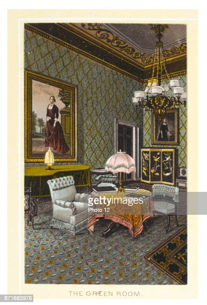 The Green Room at the white House Washington DC USA 1900