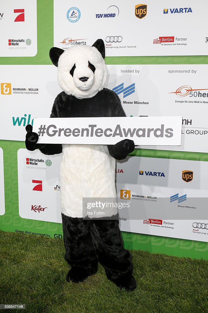 The Green Tec Mascot during the Green Tec Award at ICM Munich on May 29, 2016 in Munich, Germany.