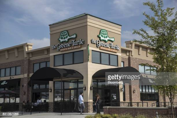 The Green Turtle Sports Bar and Grille part of the Main Street North Brunswick development project stands in North Brunswick New Jersey US on...
