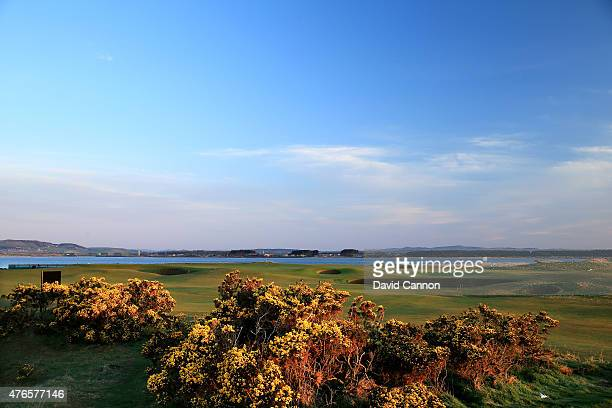 The greens on the par 3 11th hole and par 4 7th hole on the Old Course at St Andrews venue for the 2015 Open Championship on April 21 2015 in St...