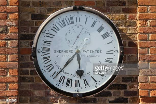 The Greenwich Shepherd Gate Clock at the Royal Observatory in Greenwich on March 26 2012 in London England The Royal Observatory Greenwich...