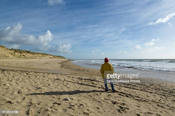 The Grenettes beach, Ile De Re, Poitou Charente, Charente Maritime, France