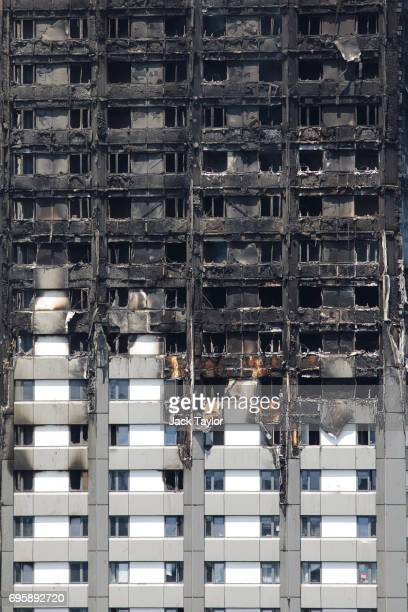 The Grenfell Tower block stands after a huge fire engulfed the 24 storey residential building in Latimer Road West London in the early hours of this...