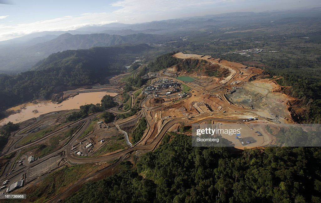 The G-Resources Group Ltd. Martabe gold and silver mine is seen in this aerial view in Batang Toru, North Sumatra province, Indonesia, on Wednesday, Feb. 13, 2013. G-Resources is scheduled to announce financial results on Feb. 28. Photographer: Dadang Tri/Bloomberg via Getty Images