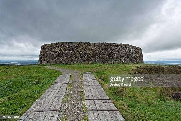 CONTENT] The Grianan of Aileach is a group of historic structures atop a 244 metres hill in County Donegal Ireland