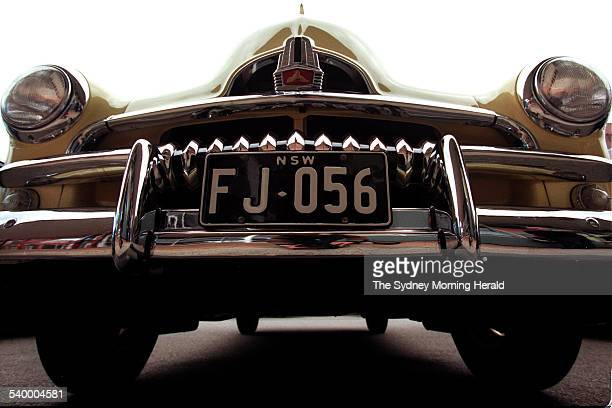 The grill of a 1956 FJ ute pictured as part of the 50 year celebration with the release of the FJ Holden model / miniature 26 May 1998 SMH Picture by...