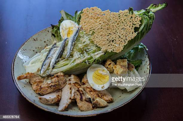 The grilled chicken caesar salad at Brookland's Finest a neighborhood bar and grill opened by the guys behind the Pug and Solly's in Washington DC on...