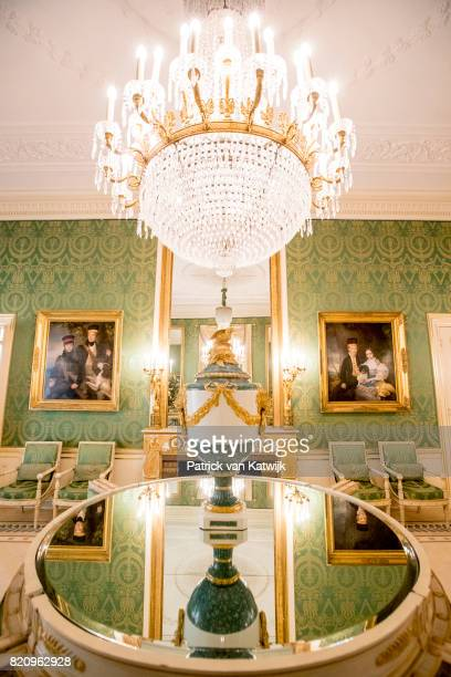 The Groene Antichambre room in Palace Noordeinde on July 22 2017 in The Hague Netherlands Palace Noordeinde is the office of King WillemAlexander and...