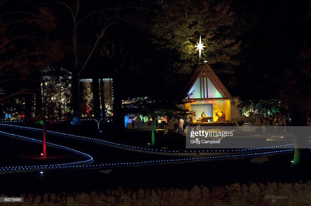 The Grounds Of Graceland Display The Christmas Lights After The Lighting  Ceremony At Graceland Plaza On