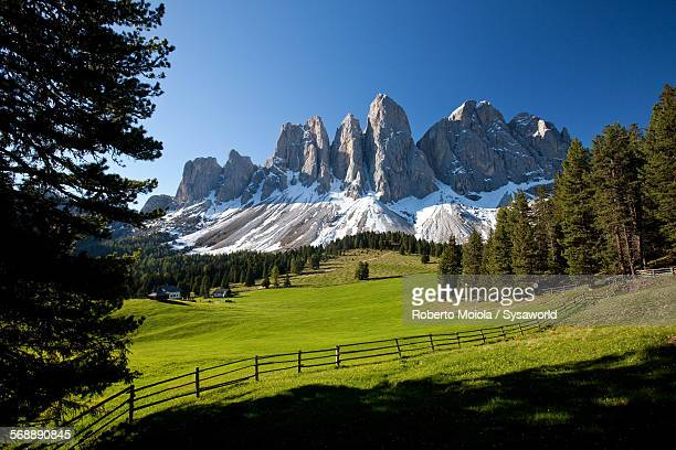 The group of Odle Dolomites Italy