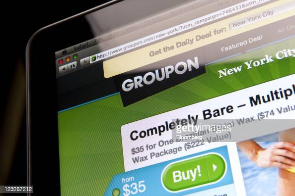 The Groupon Inc website is displayed for a photograph in New York US on Wednesday Aug 31 2011 Photographer Scott Eells/Bloomberg via Getty Images
