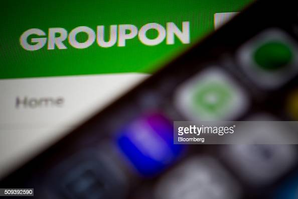 The Groupon Inc website is displayed on a computer monitor in an arranged photo taken in New York US on Tuesday Feb 9 2016 Groupon is scheduled to...