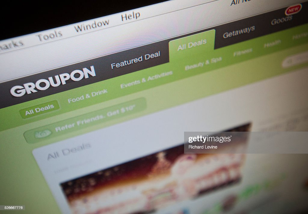 The Groupon website is seen on Thursday November 8 2012 Shares of Groupon jumped after it was reported that Alibaba Group Holding Ltd has bought a...