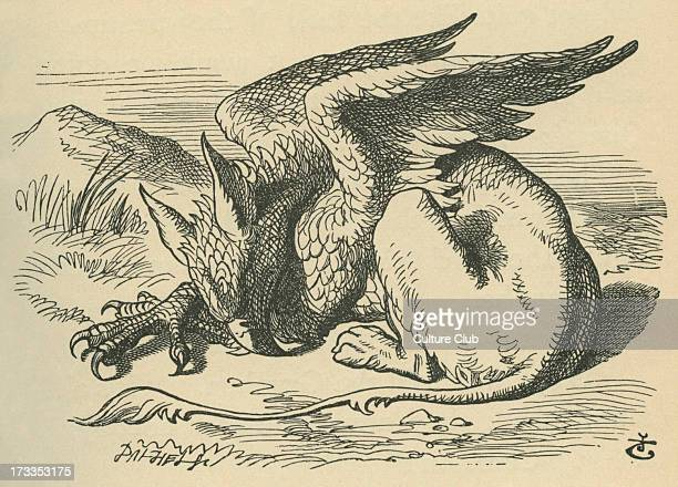 The Gryphon Lewis Carroll's book 'Alice's Adventures in Wonderland' Illustrated by John Tenniel The Gryphon sleeps in the sun