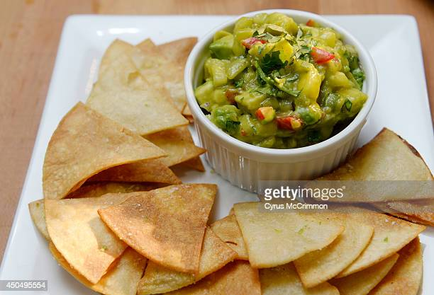 The guacamole and home made tortilla chips as the Stir Cooking School at 3215 Zuni Street in Denver hosted an Iron Chef styled cooking event on...