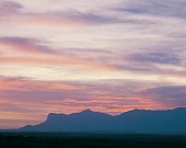 The Guadalupe Mountains at sunset, Texas, USA