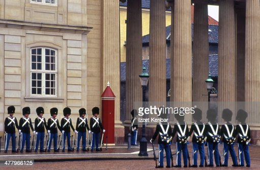 The guard ceremony at Amalienborg castle