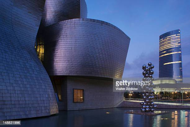 The Guggenheim Museum and Office Tower designed by Cesar Pelli.