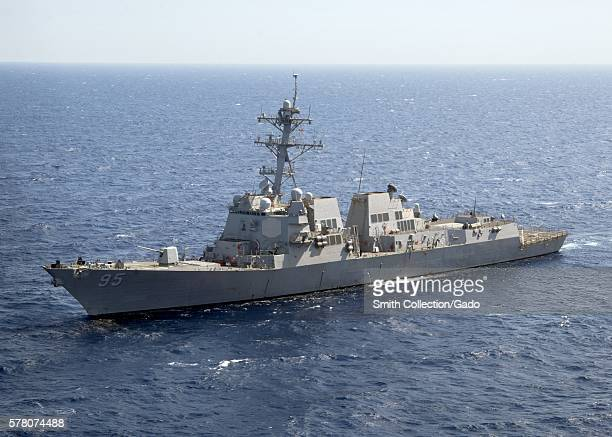 The guidedmissile destroyer USS James E Williams DDG 95 transits the Red Sea Red Sea 2012 Image courtesy Mass Communication Specialist 3rd Class...