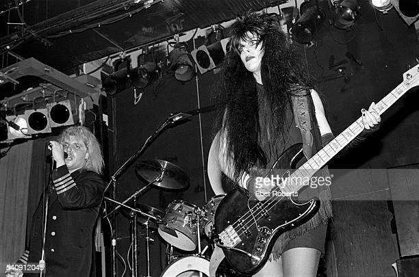 The Gun Club's Jeffrey Lee Pierce and Patrica Morrison performing at the Peppermint Lounge in New York City on November 11 1982