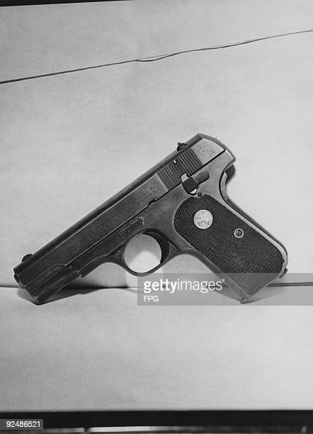 The gun John Dillinger was carrying when he was shot and killed by police and federal agents in Chicago July 1934 The gun is a Colt 38