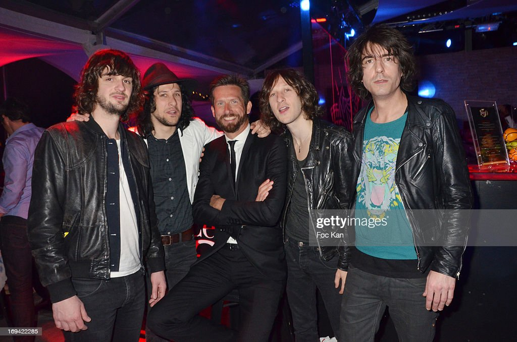 The Gush Band and Sam Bobino (C) attendThe Opium After Premiere Private Cocktail during the Terrazza Martini at The 66th Annual Cannes Film Festival on May 23, 2013 in Cannes, France